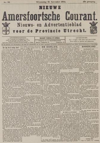 Nieuwe Amersfoortsche Courant 1914-11-25