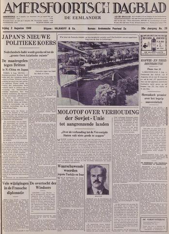 Amersfoortsch Dagblad / De Eemlander 1940-08-02