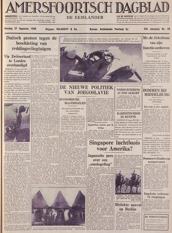 Amersfoortsch Dagblad / De Eemlander 1940-08-27