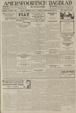 Amersfoortsch Dagblad / De Eemlander 1931-01-12
