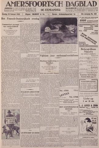 Amersfoortsch Dagblad / De Eemlander 1935-02-26