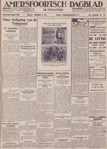 Amersfoortsch Dagblad / De Eemlander 1936-10-07