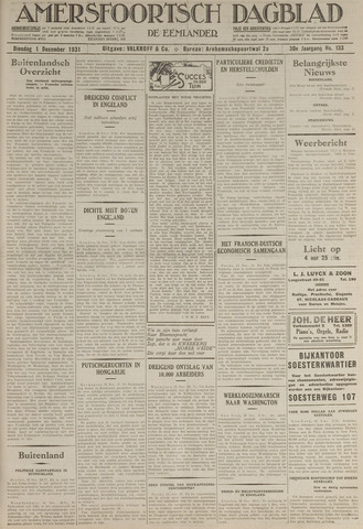 Amersfoortsch Dagblad / De Eemlander 1931-12-01