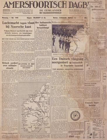 Amersfoortsch Dagblad / De Eemlander 1940-05-01