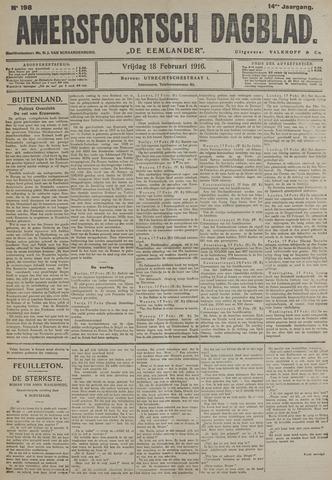 Amersfoortsch Dagblad / De Eemlander 1916-02-18