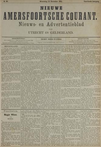 Nieuwe Amersfoortsche Courant 1885-11-25