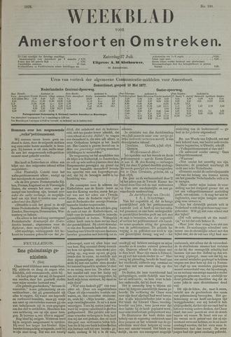 Weekblad voor Amersfoort en Omstreken 1878-07-27