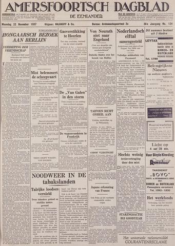 Amersfoortsch Dagblad / De Eemlander 1937-11-22