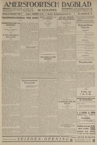 Amersfoortsch Dagblad / De Eemlander 1933-09-26