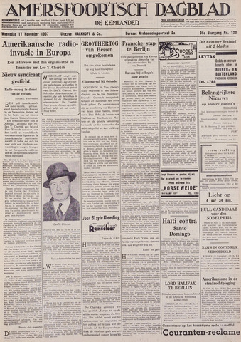 Amersfoortsch Dagblad / De Eemlander 1937-11-17