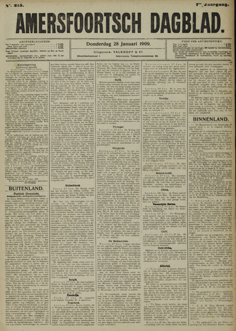 Amersfoortsch Dagblad 1909-01-28