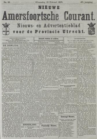 Nieuwe Amersfoortsche Courant 1918-02-13