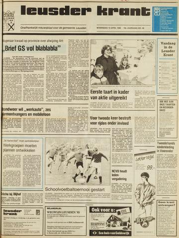 Leusder Krant 1985-04-10