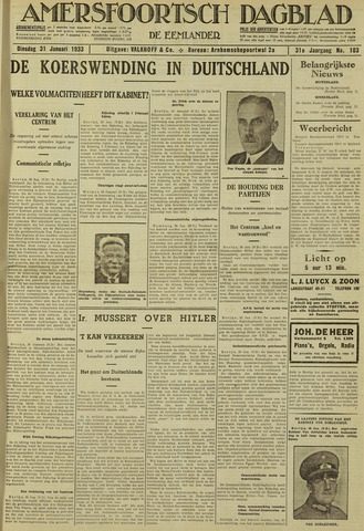 Amersfoortsch Dagblad / De Eemlander 1933-01-31