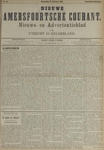 Nieuwe Amersfoortsche Courant 1885-02-25