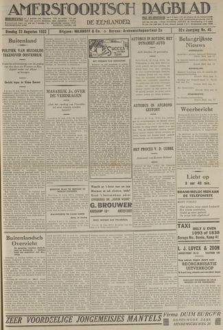 Amersfoortsch Dagblad / De Eemlander 1933-08-22