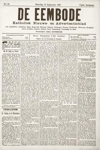 De Eembode 1891-09-12