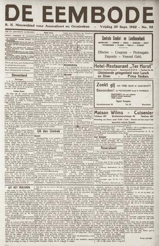 De Eembode 1922-09-29