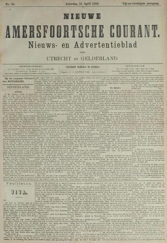 Nieuwe Amersfoortsche Courant 1896-04-25