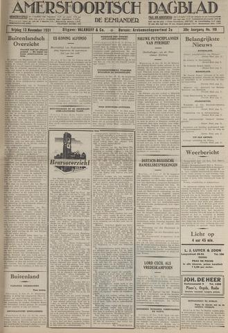 Amersfoortsch Dagblad / De Eemlander 1931-11-13