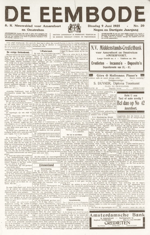 De Eembode 1925-06-09