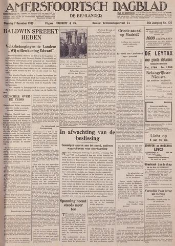 Amersfoortsch Dagblad / De Eemlander 1936-12-07