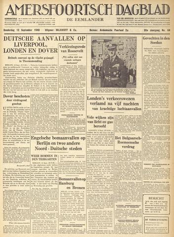Amersfoortsch Dagblad / De Eemlander 1940-09-12