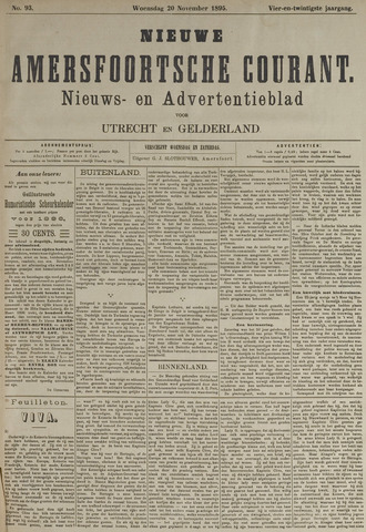 Nieuwe Amersfoortsche Courant 1895-11-20