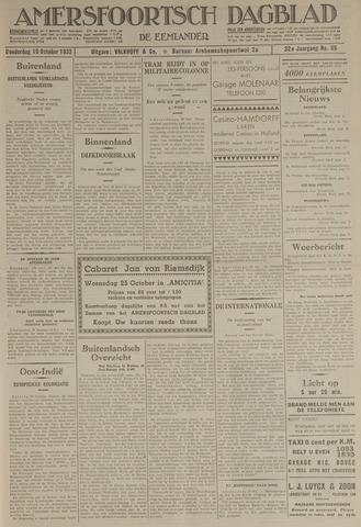 Amersfoortsch Dagblad / De Eemlander 1933-10-19