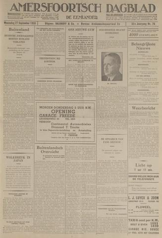 Amersfoortsch Dagblad / De Eemlander 1933-09-27
