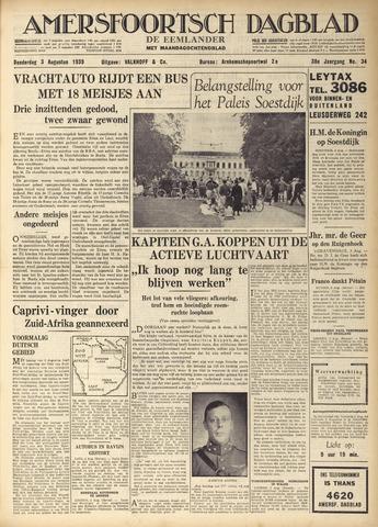 Amersfoortsch Dagblad / De Eemlander 1939-08-03