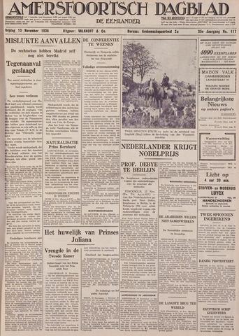 Amersfoortsch Dagblad / De Eemlander 1936-11-13