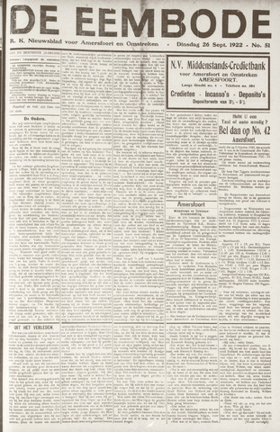 De Eembode 1922-09-26