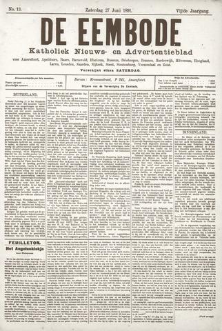 De Eembode 1891-06-27