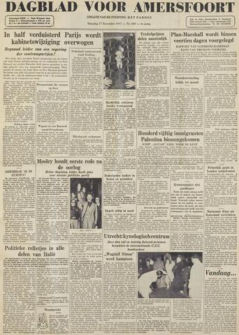 Dagblad voor Amersfoort 1947-11-17