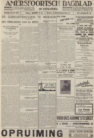 Amersfoortsch Dagblad / De Eemlander 1934-07-28