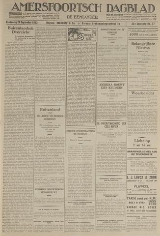 Amersfoortsch Dagblad / De Eemlander 1933-09-28