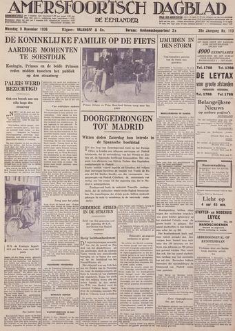 Amersfoortsch Dagblad / De Eemlander 1936-11-09