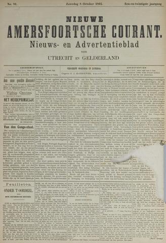 Nieuwe Amersfoortsche Courant 1892-10-08