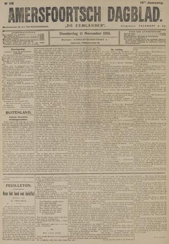 Amersfoortsch Dagblad / De Eemlander 1915-11-11