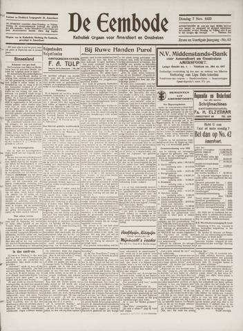 De Eembode 1933-11-07