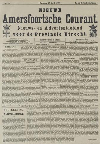 Nieuwe Amersfoortsche Courant 1907-04-27