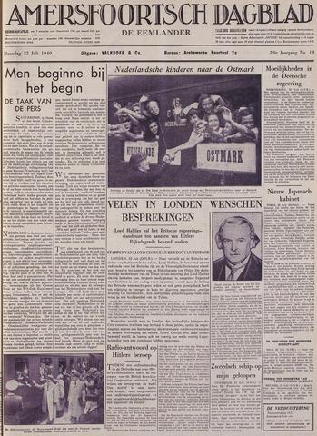 Amersfoortsch Dagblad / De Eemlander 1940-07-22