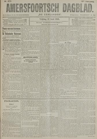 Amersfoortsch Dagblad / De Eemlander 1915-06-18