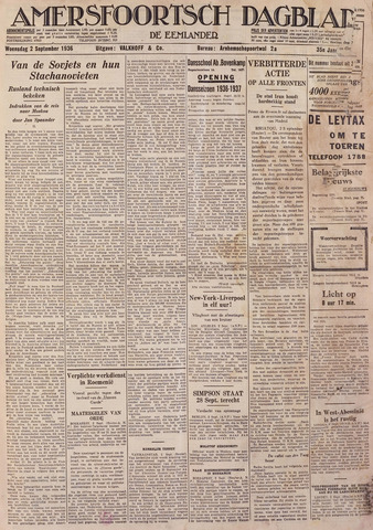Amersfoortsch Dagblad / De Eemlander 1936-09-02