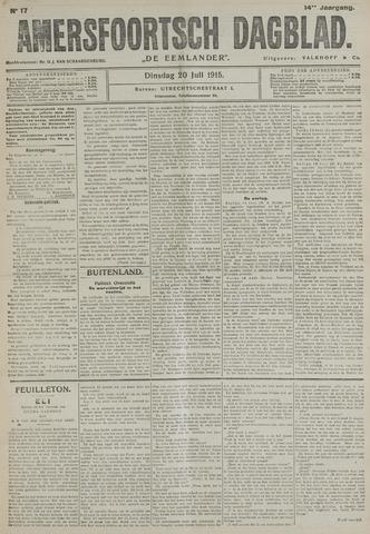 Amersfoortsch Dagblad / De Eemlander 1915-07-20