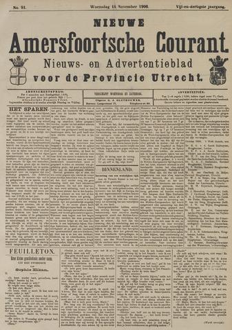 Nieuwe Amersfoortsche Courant 1906-11-14