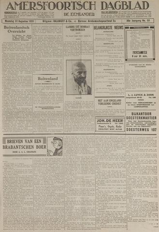 Amersfoortsch Dagblad / De Eemlander 1931-08-31