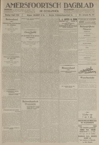 Amersfoortsch Dagblad / De Eemlander 1934-04-03