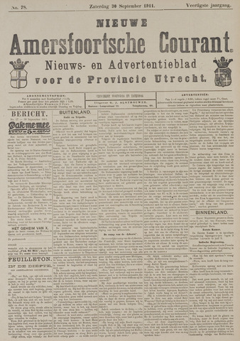 Nieuwe Amersfoortsche Courant 1911-09-30